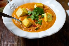 """Golden Trio Chipotle Fall Soup with Crispy Tofu """"croutons"""""""