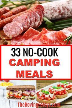 Camping Lunches, Camping Menu, Camping Foods, Camping Tips, Couples Camping, Camping Breakfast Foods, Lunch Ideas For Camping, Easy Food For Camping, Easy Camping Recipes