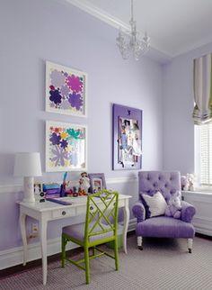 purple, purple girls bedroom