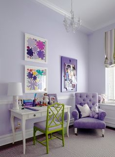 Pretty purple girl's room!