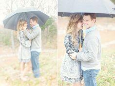 Rainy day engagement pictures