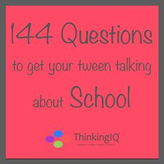 """Thinking #Kids School Question cards are designed to initiate parent/child conversation about #school in a fun and relaxing manner. They encourage #children to open up and to express their ideas, thought and feelings without perceiving as if they're being """"questioned."""" Most importantly, they promote engagement and take the conversation beyond """"how was school?"""""""