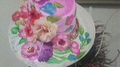Sombrero tipico para la niña Ecuador en el reinado miss New Jersey en Estados Unidos Painted Hats, Ecuador, Cake, Desserts, Food, Reign Bash, Tailgate Desserts, Deserts, Kuchen