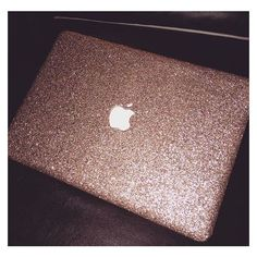 Glitter Macbook Case- Rose Gold (textured) ❤ liked on Polyvore featuring accessories and tech accessories