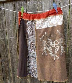Recycled TShirt Skirt  Womens Hard Rock Tulsa