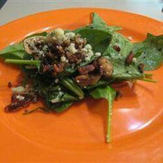 Hot Spinach Salad