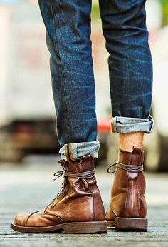 American Eagle Outfitters Men's boots and jeans. love the styling detail