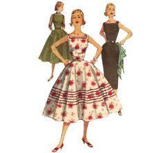 1950s Jumper Dress  Vintage Pattern Simplicity 1194 by ErikawithaK