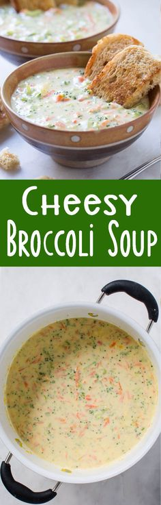 Homemade Creamy And Cheesy Broccoli Soup is the soup of the season! You'll want this one all Fall and Winter long!