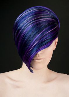 Blue and purple hair Love Hair, Great Hair, Gorgeous Hair, Awesome Hair, Funky Hairstyles, Pretty Hairstyles, Hairstyles Haircuts, Short Hair Cuts, Short Hair Styles