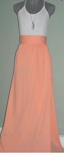 Peach Maxi skirt by WithLovebyKK on Etsy