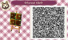 Cute QR Codes Forest Tile#1