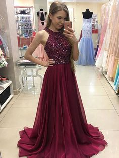 2018 burgundy long prom dress, sparkly sequins long burgundy prom dress evening dress