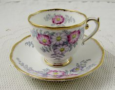 Roslyn Bracken Tea Cup and Saucer Hand Painted by TheAcreage