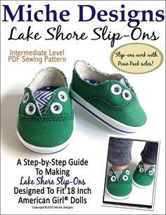 "LAKE SHORE SLIP-ONS 18"" DOLL SHOES"