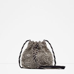 ZARA - PROMOCIJA - BEADED DRAWSTRING BAG