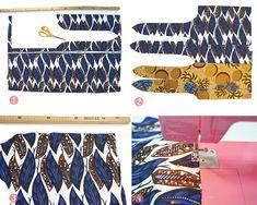 Un sac réversible en Wax Fabric Crafts, Fashion Art, Sewing, Crochet, Communion, Miniatures, Awesome, Instagram, Tejidos