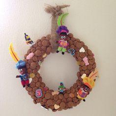 Sinterklaas krans Creatief decoratie pepernoten snoepgoed