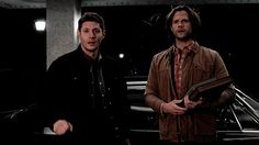 Sam is all nervous and overwhelmed and Dean looks like he won the lotto. They are both so cute!