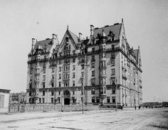 the Dakota Building (NY)... the house of NY's elite... originally built in isolation... its ambition was to set off a migration of the wealthy to the central park west.  guess it worked out