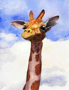 watercolor giraffe - Google Search