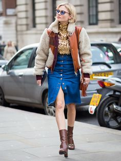 The Trend Taking Over the Fashion World: Button-Front Skirts via @WhoWhatWear
