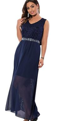 Lace Chiffon Summer Women Sleeveless dress b71210c0193c