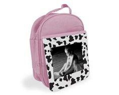 Porta pranzo rosa personalizzato con foto e grafica