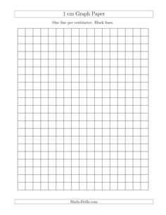 1 cm Graph Paper with Black Lines (A) Math Worksheet #freemath