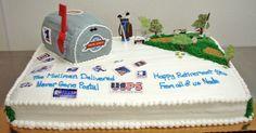 Retirement Celebration Cake- Post Office - Cookies Fresco Bakery