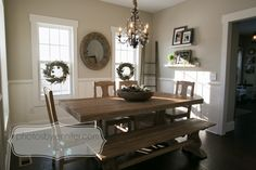 Farmhouse Dining Room Colors Valspar Ideas For 2019 Farmhouse Living Room Furniture, Farm House Living Room, World Market Dining Table, Dining Room Colors, Farmhouse Dining Room, Living Room Colors, Dining Chandelier, Farmhouse Bedroom Decor Country, Rustic Dining Room