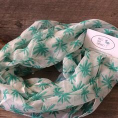 Scarf - Cotton - Palm Tree Infinity Scarf Palm Trees, Flamingo, Baby Car Seats, Blankets, Infinity, Scarves, Children, Cotton, Blue