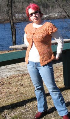 would love this adapted to a pullover (with or without lace detail) If you're using handspun - is for the singles - You want a good light DK weight to sport weight yarn. Cardigan Pattern, Knit Cardigan, Sweater Patterns, Sport Weight Yarn, Knitting Magazine, Knitting Patterns, Knitting Ideas, Knitting Projects, Crochet Patterns