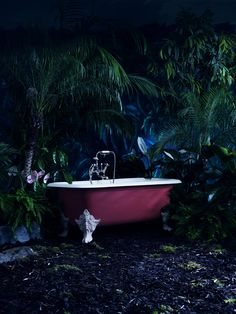 Drummonds' handpainted Liffey bath with claw feet - 2014 ad campaign drummonds-uk.com