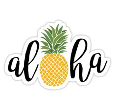 """Aloha"" Stickers by ShelbyHDesigns Stickers Cool, Red Bubble Stickers, Tumblr Stickers, Phone Stickers, Printable Stickers, Planner Stickers, Macbook Stickers, Preppy Stickers, Homemade Stickers"