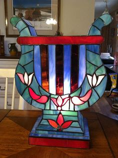 Antique Greek Revival Style Stained Glass Lamp by SweetBettysBling, $150.00