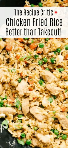 This chicken fried rice has moist and tender chicken with flavorful peas and carrots and long rice cooked together. Make this unique and your own with this favorite Chinese rice! dinner chinese Better than Takeout Chicken Fried Rice Asian Recipes, Healthy Recipes, Healthy Foods, Griddle Recipes, Arroz Frito, Farmers Market, Fried Chicken, Teriyaki Chicken Fried Rice Recipe, Marinade Chicken