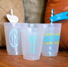 Personalized Shatterproof Party Cups  Set of 50 by GraciousBridal, $52.95