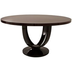 Black Orchid Ebony macassar round table ($2,895) ❤ liked on Polyvore