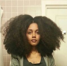 Big Natural Hair. To learn how to grow your hair longer click here - http://blackhair.cc/1jSY2ux