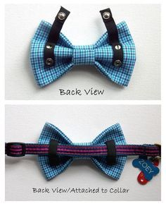 Dog Bow Tie Dog Bow Comics Superhero Blue Black Yellow by ZoZosPaw