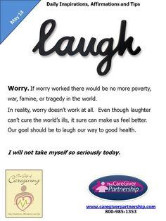 May 14 Daily CareGiver Affirmation: Worry #caregiver caregiving #familycaregiver