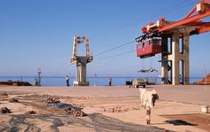 The old cable car of Sidi Ifni (سيدي إفني), Morocco. Under spanish sovereignty until 1969.
