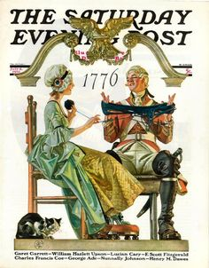 Patriotic 1776 illustration by Joseph Christian Leyendecker for The Saturday Evening Post cover, July 4, 1931