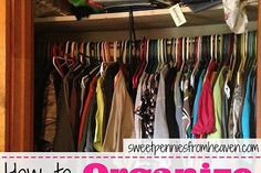 how to organize even the smallest closet on a budget, closet, organizing, You can see how stuffed in these clothes are I had to get in there and shove like a football player just to get more clothes in