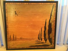 Art Deco panel - maple and macassar ebony. Wonder if it was by the Rowley gallery? Marrakech, Guitars, Art Deco, Gallery, Painting, Paintings, Draw, Guitar, Drawings