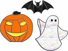 Halloween Holiday Free Patterns from Alpine Stained Glass
