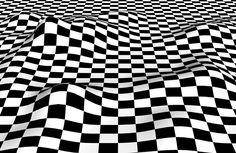 Patterns Make Form -- This chessboard pattern looks as if it covers hills and valleys. It doesn't, though—it's as flat as any other pattern on your screen. #Optical #Illusions #ShermanFinancialGroup