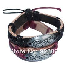 Livraison gratuite 2pcs/lot vente chaude de mode bijoux bracelet en cuir pour l'amant de lézard