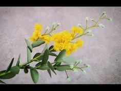 Cómo hacer Acacia Podalyriifolia flor de papel Crepe - Craft Tutorial - YouTube